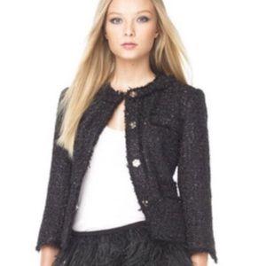 Michael Kors Black Tweed Sequin Jacket
